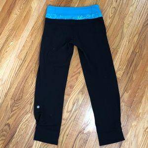 Lululemon Reversible Black Pants Luon Size 4